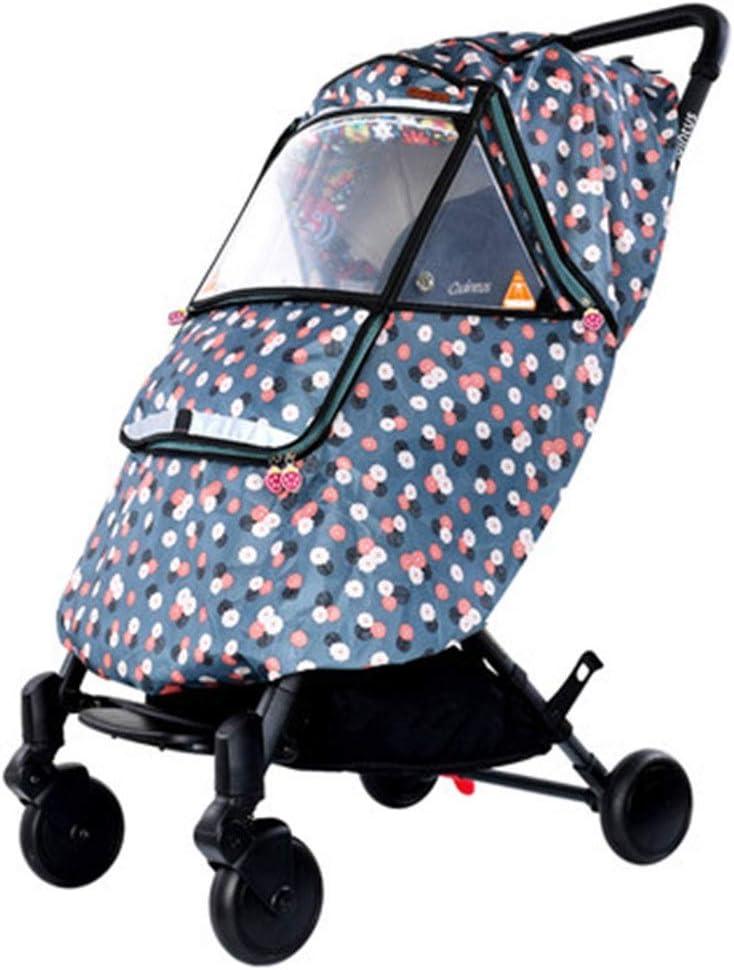 ベビーカー レインカバー ベビーカー全天候アーティファクト風防ユニバーサルベビーカーのレインコートの表紙暖かい冬の赤ん坊のうちから選択する5色 (色 : C, サイズ : ワンサイズ)