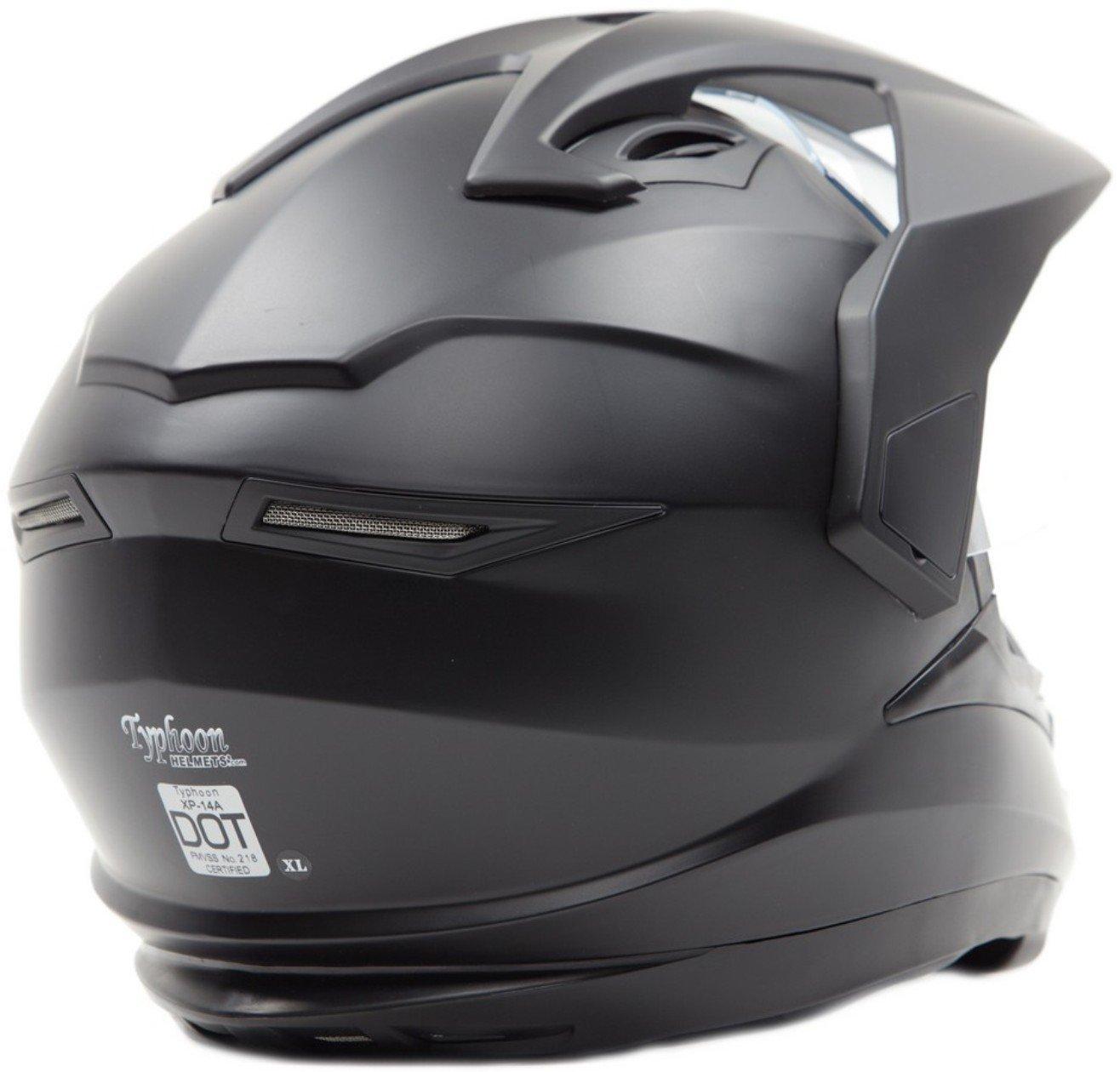 Dual Sport Snocross Snowmobile Helmet w/ Electric Heated Shield - Matte Black - XL by Typhoon Helmets (Image #3)