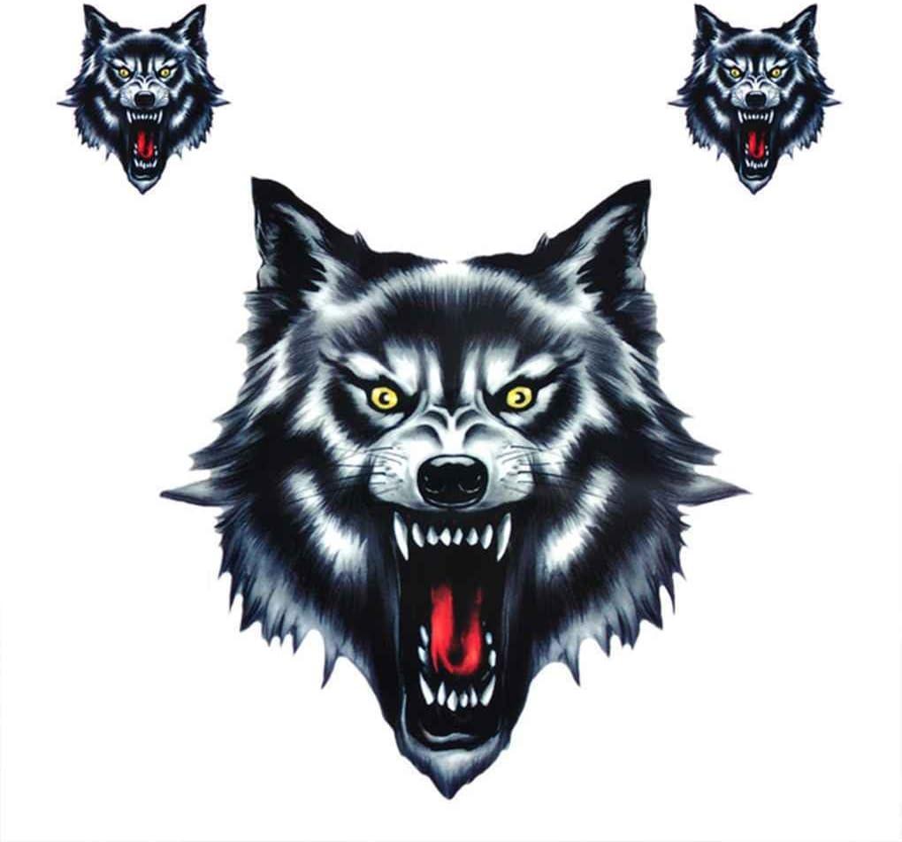 Wolf Head motocicleta motocicleta puerta del coche etiqueta insignia Paster película emblema pegatinas camión casco decoración Regard