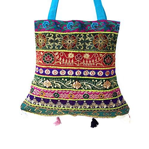 Zurückgefordert Assorted gestickte Patchwork Baumwolle Mix Jhola Tasche für Sie