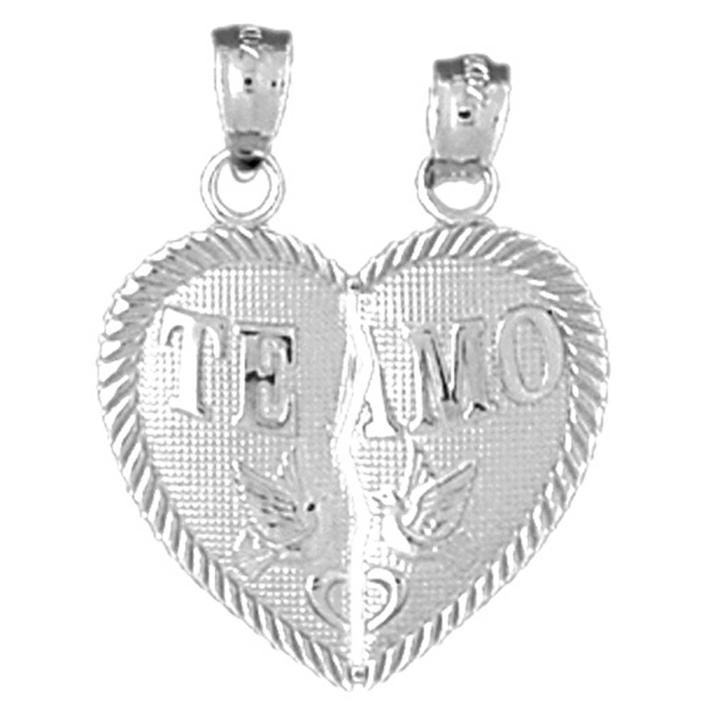 Rhodium-plated 925 Silver Heart Pendant with 18 Necklace Jewels Obsession Silver Heart Necklace