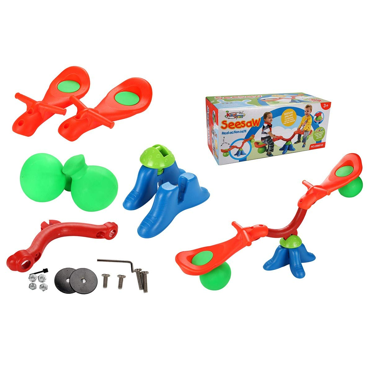 Kids Seesaw 360 Degree Spinning Teeter Totter Bouncer Bright and Cheerful Color Easy-Grip Handles by EnjoyShop (Image #6)