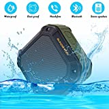 Portable Wireless Bluetooth Speaker Waterproof Outdoor Sport Mp3 Player, SUNDATOM Music Speaker Hi-fi Player with Long Playtime Hands Free for Smart Phone Anti-drop Anti-dust Anti-water