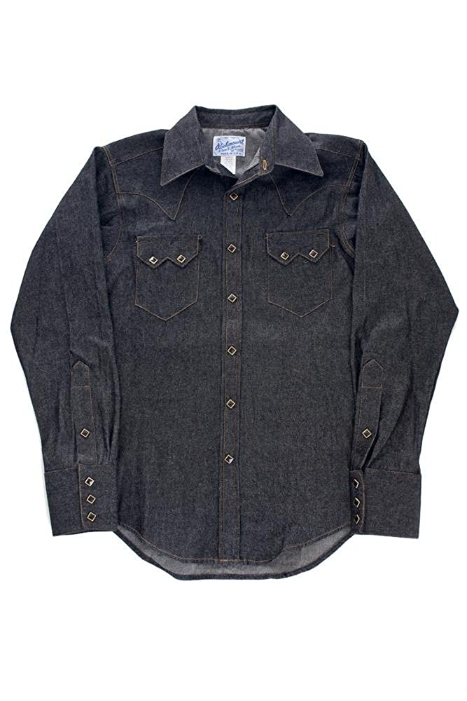 8f427ccb Rockmount Black Denim Sawtooth Western Shirt SP640-DB-Black-14.5 at Amazon  Men's Clothing store: