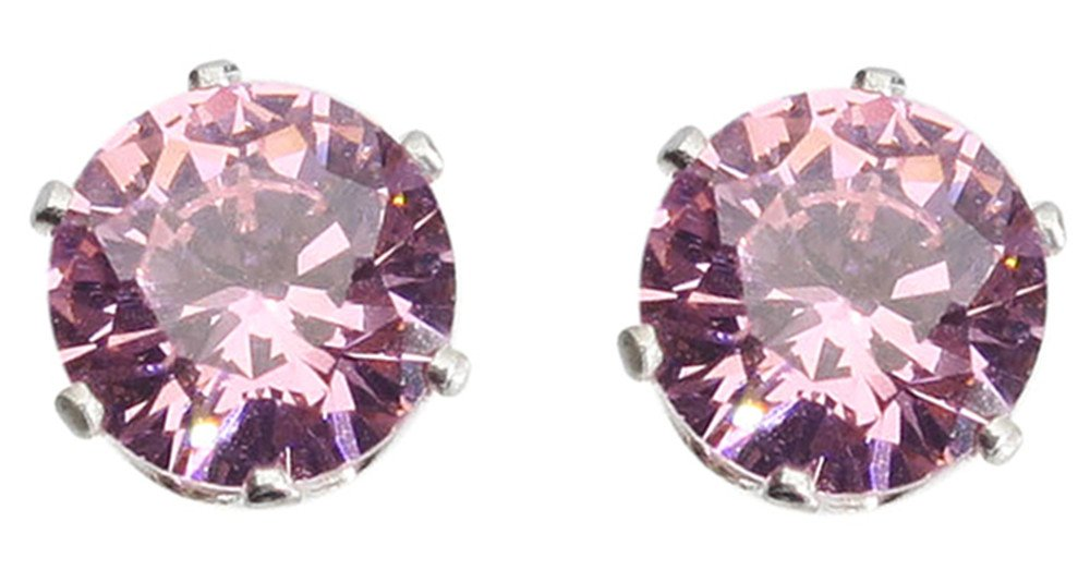 Pink Crystal Earrings Only $0.99 + $0.99 Shipping