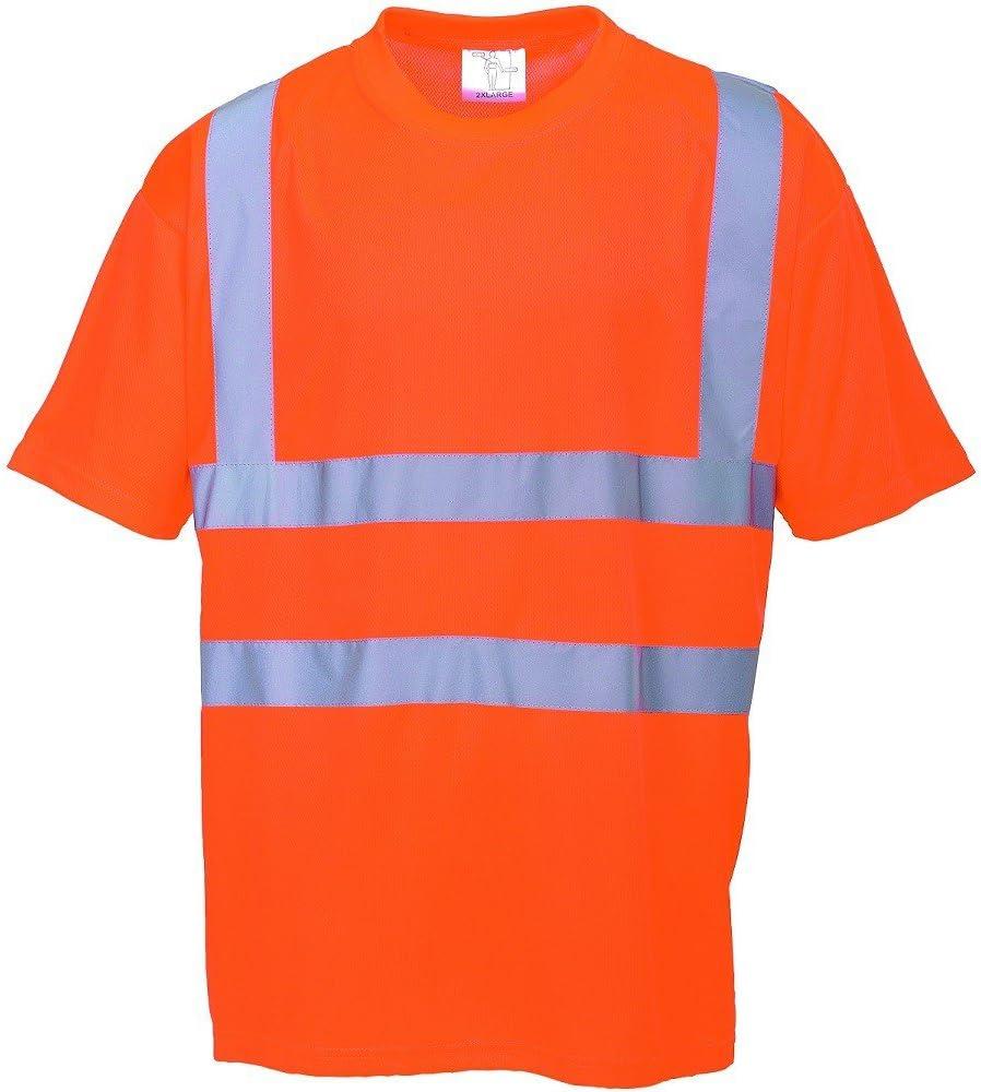 Portwest RT23 - Hi-Vis Camiseta, color naranja, talla 3 XL: Amazon.es: Industria, empresas y ciencia