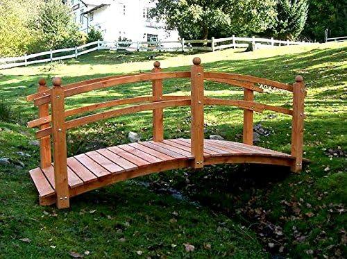 Ornamentales Puente Tanja Madera Maciza De Pino – Puente puente jardín y resistente a la intemperie: Amazon.es: Jardín