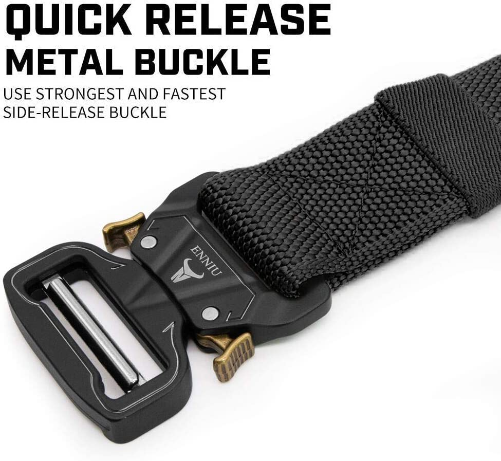 Military Style Adjustable Heavy-Duty Riggers Nylon Belt with Quick-Release Metal Buckle for Working Outdoor Molle Gift Box APERIL Men Tactical Belt
