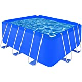 Piscine rectangulaire avec cadre en acier 400 x 207 x 122 cm