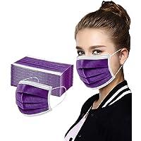 MAOIMOR Protección 3 Capas Transpirables con Elástico para Los Oídos Pack 50 Unidades (50, Púrpura)