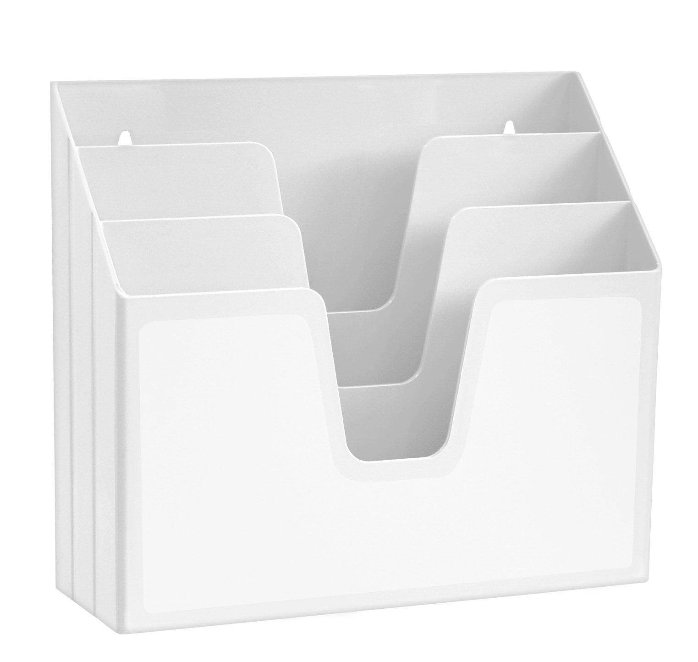 Acrimet Horizontal Triple File Folder Organizer (White Color)