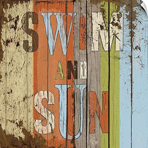 Canvas on Demand Elizabeth Medley Wall Peel Wall Art Print entitled Swim and Sun 30