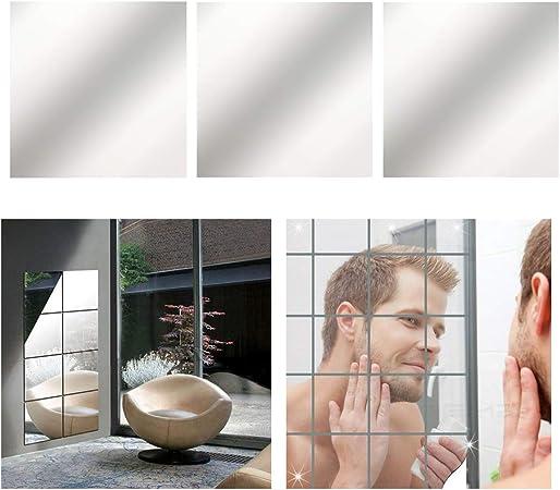 DE 9//16//32x Spiegelfliesen Spiegelplatte Wandspiegel Klebespiegel Spiegelkacheln