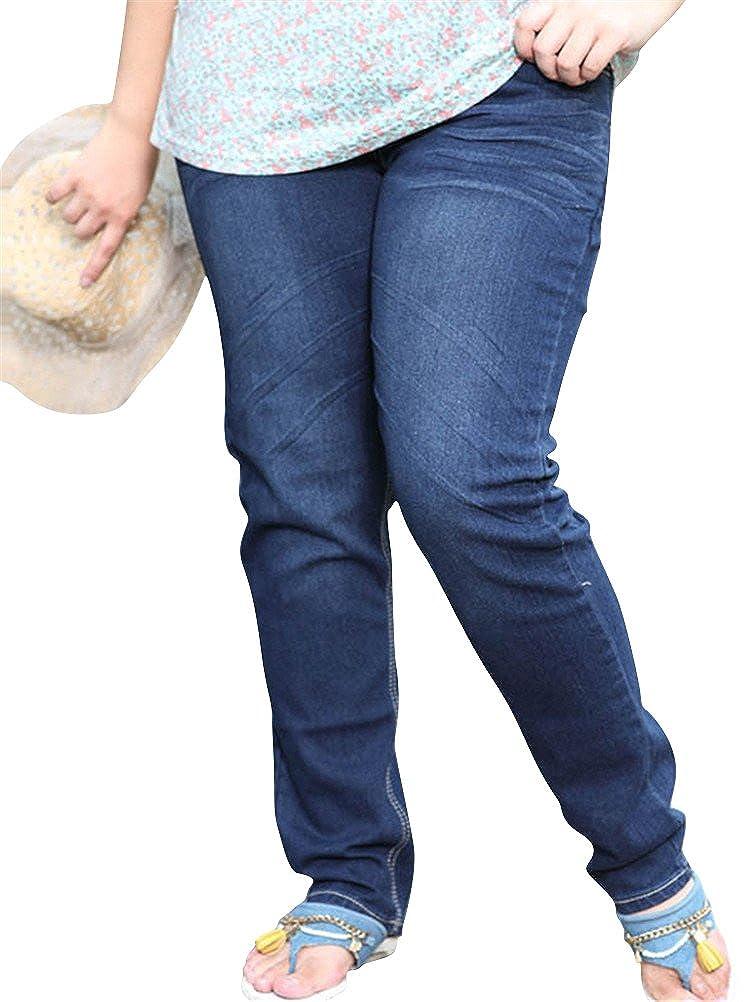 Skinny Jeans for Women,Juniors Jeans Plus Size Distressed Blue Stretch Boyfriend Ankle Denim Pants