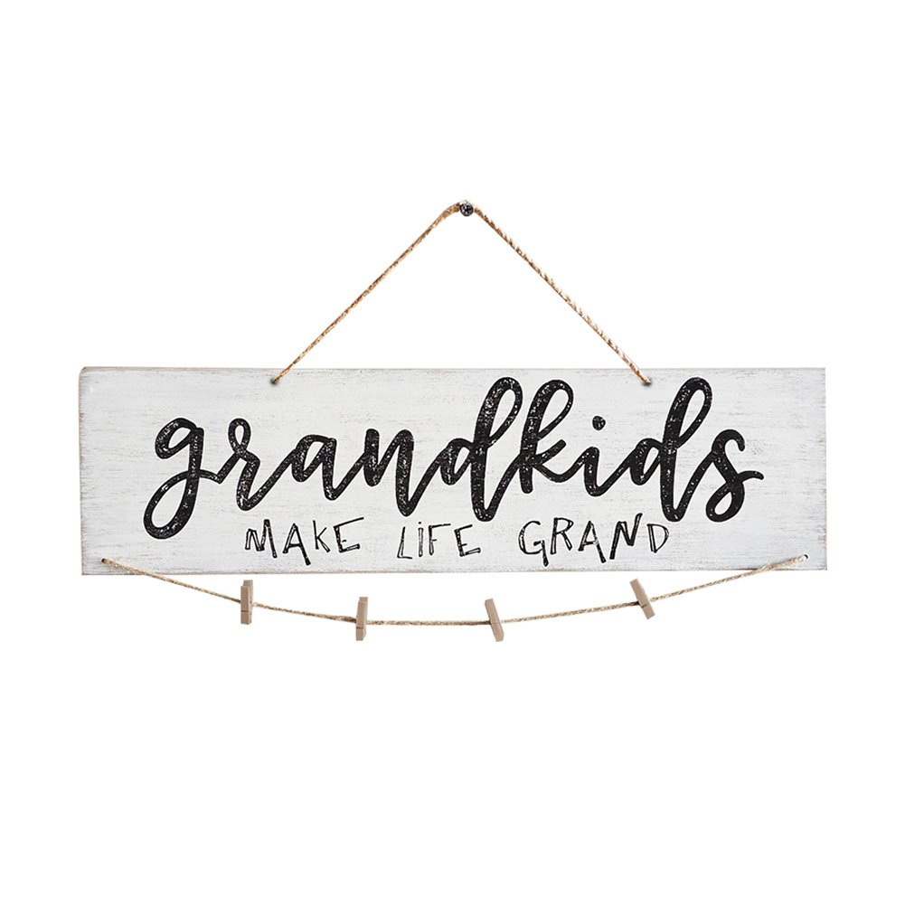 Lothver Sweet House Wooden Photo Clip photo holder Grandchildren picture frame Grandparents picture frame The Greatest Blessing Wall Decoration