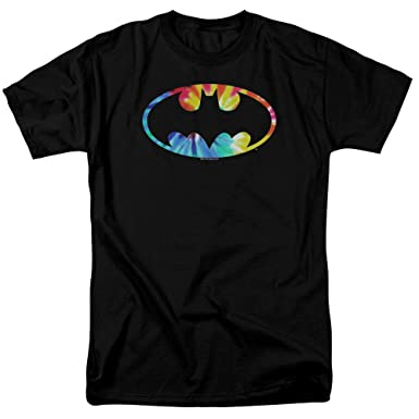 Amazon.com  Batman Tie Dye Batman Logo Unisex Adult T Shirt for Men ... b49dc72d6