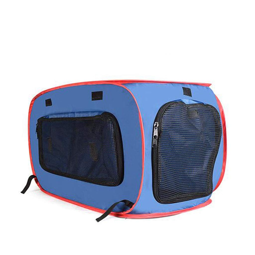 bluee M bluee M GJ Car Kennel 600D Oxford Cloth Portable Collapsible Pet Tent Pet Fence (color   bluee, Size   M)