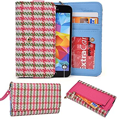 Women's Universal Houndstooth Smartphone Wallet Case Fits Nokia Lumia 625 NuVur ™ by NuVur