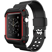 Simpeak Correa Apple Watch Series 3/2/1 42mm Reemplazo de Silicona Suave Deportiva Banda para Apple Watch Correa Funda Apple Watch