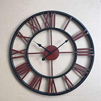 Ibalody 40 50 60 Cm Fer Forgé Silencieux Grande Horloge Murale Salon