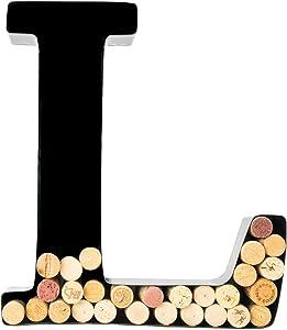 Wine Cork Holder - Metal Monogram Letter (L)