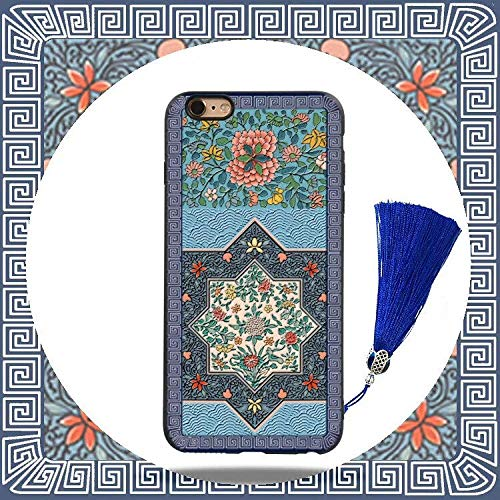 ZBYZPL Designed for iPhone Case Shockproof Dustproof Chinese Ancient Palace Style Octagonal Flower Tassel Fashion Phone case-iPhoneX/Xs 5.8inch
