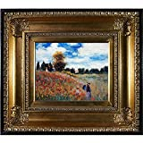 overstockArt MON2599-FR-650G8X10 Monet Poppy Field in Argenteuil Oil Painting with Regency Gold Frame, Gold Finish