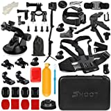T.Face GoPro Action Camera Accessories Set Monopod Mount Kits for Go Pro Hero 6 5 4 Xiaomi Yi 4K SJCAM SJ5000 SJ7 Eken H9 Cam (XTK164)