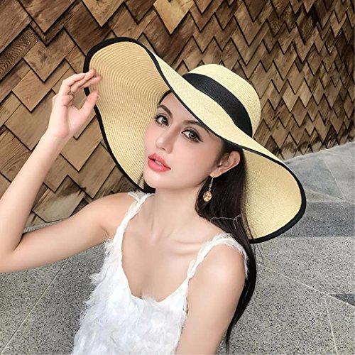 Mejor ERLINGSAN-MZ Sombreros De Mujer Escapada De Verano Plegables Gorras  De Playa Sombreros d55674ead7d