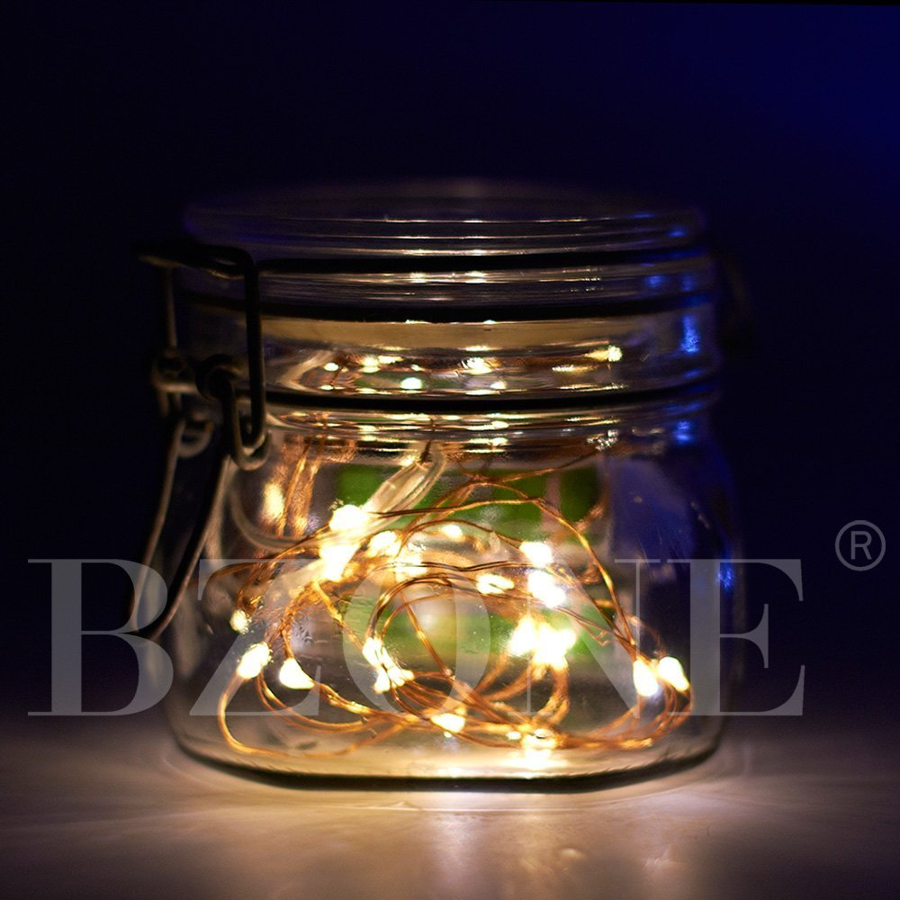 BZONE Led Tiny Micro Battery String Lights Copper Wire Bedroom ...