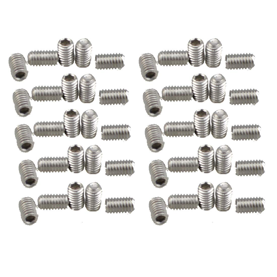 50, M3X8 XunLiu 316 Stainless Steel Internal Hex Socket Cup Point Grub Screw