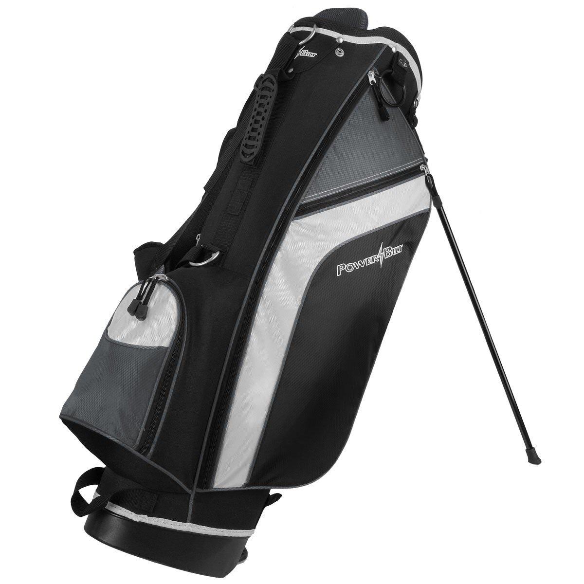 Powerbilt Santa Rosa Black/Charcoal Stand Golf Bag (Black/Charcoal)
