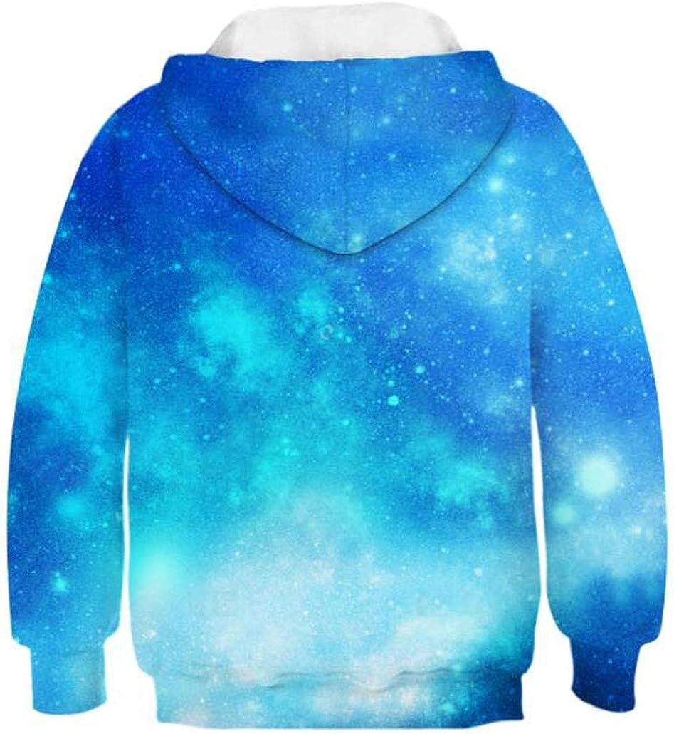 Girls Cute Galaxy Unicorn Hoodie Sweatshirt 4-10 Years