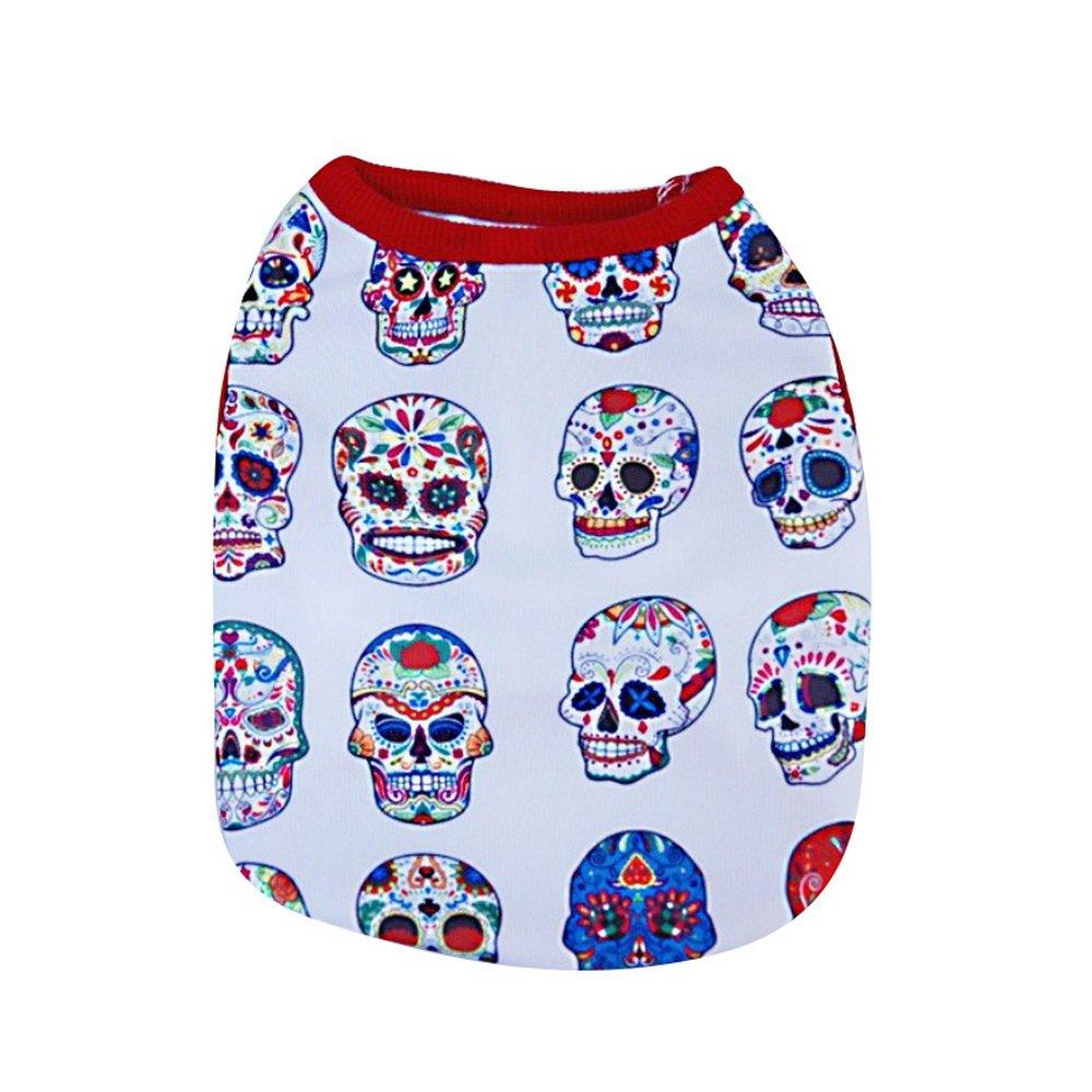 URIJK - Arnés para camiseta con diseño de calavera, para perro ...