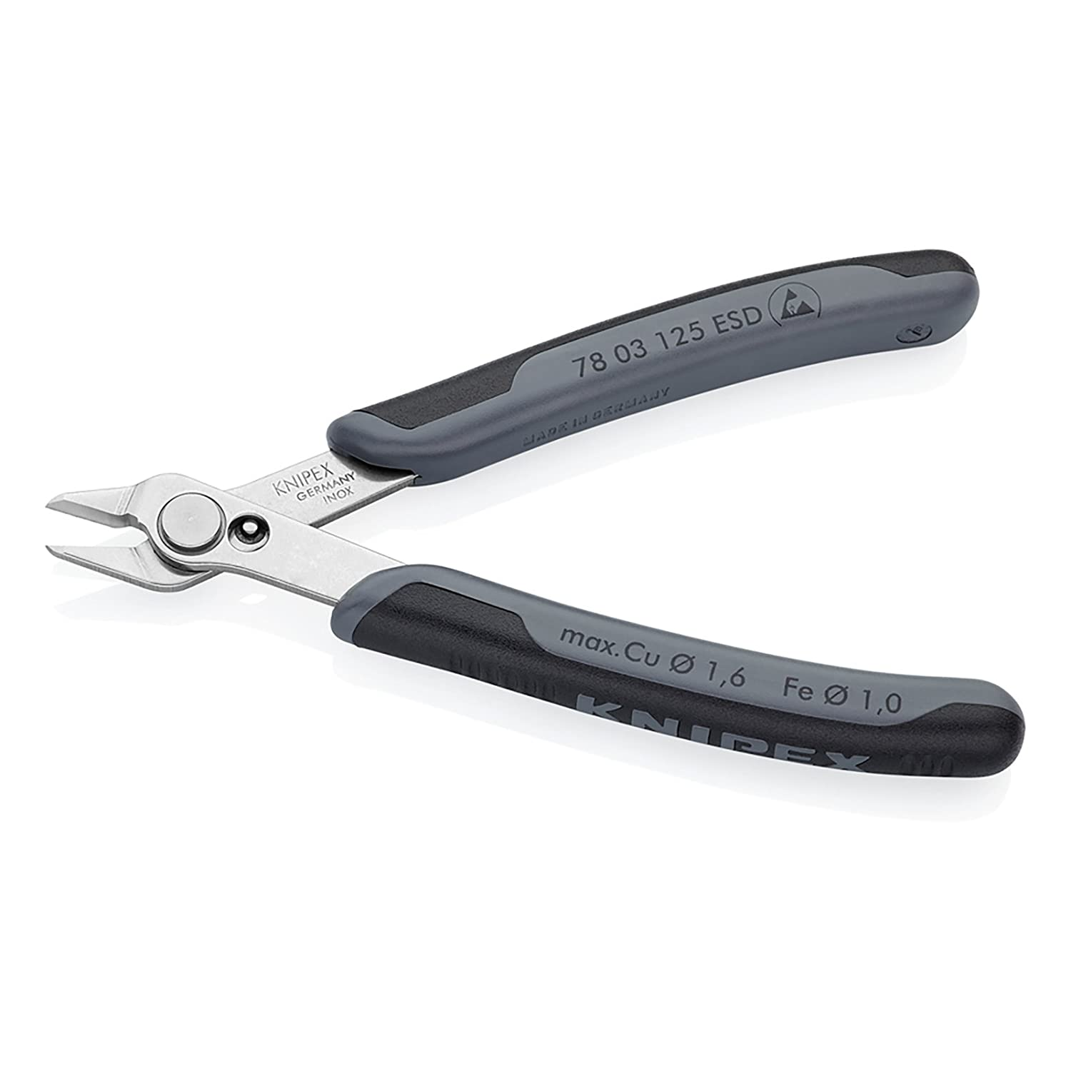 Knipex 78 03 125 ESD Pr/äzisionszange Electronic Super Knips