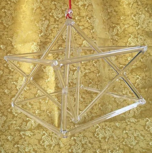 CVNC 7 Inch Chakra Optically Clear Quartz Crystal Singing Merkaba Pyramid Healing Musical Instrument For Gift