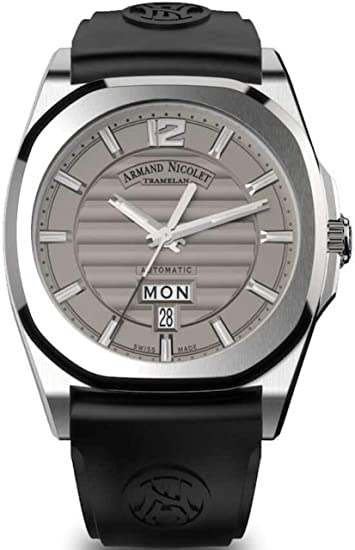 Armand Nicolet Gents-Reloj de Pulsera J09-2 día y Fecha analógico Automatik A650AAA-GR-GG4710N: Amazon.es: Relojes