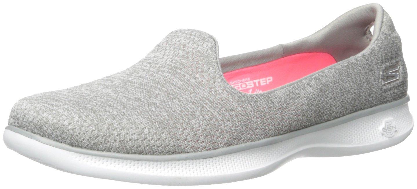 Skechers Performance Women's Go Step Lite Slip-on Walking Shoe B01LTAGQ1G 9 B(M) US|Gray Heather