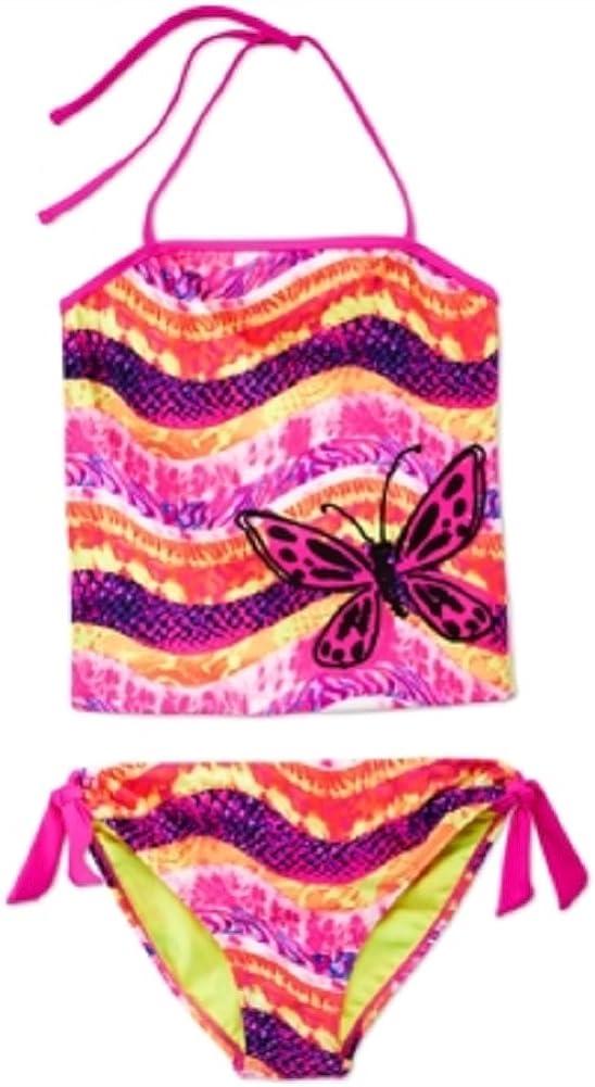 Breaking Waves Girls Animal Tankini Size 10 Multi