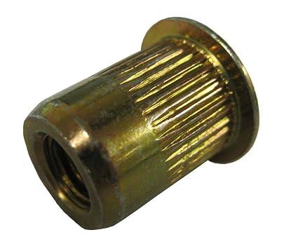 GOLD ZINC FINISH 1//2-13 x .200-.350 GRIP RANGE SKL500-13-350 STEEL THIN-NUT LARGE FLANGE PACK OF 10