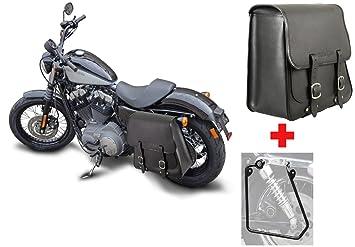 nicht für Deluxe Buffalo Bag Halter für Satteltasche Harley Softail ab 2018-
