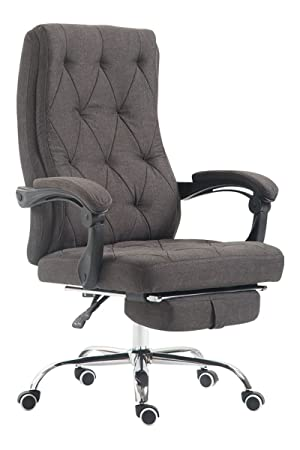 Luxury Fabric Office Swivel Chair Manager Boss office chair with Footrest Extra Padded Computer Chair ...  sc 1 st  Amazon.co.uk & Luxury Fabric Office Swivel Chair Manager Boss office chair with ...