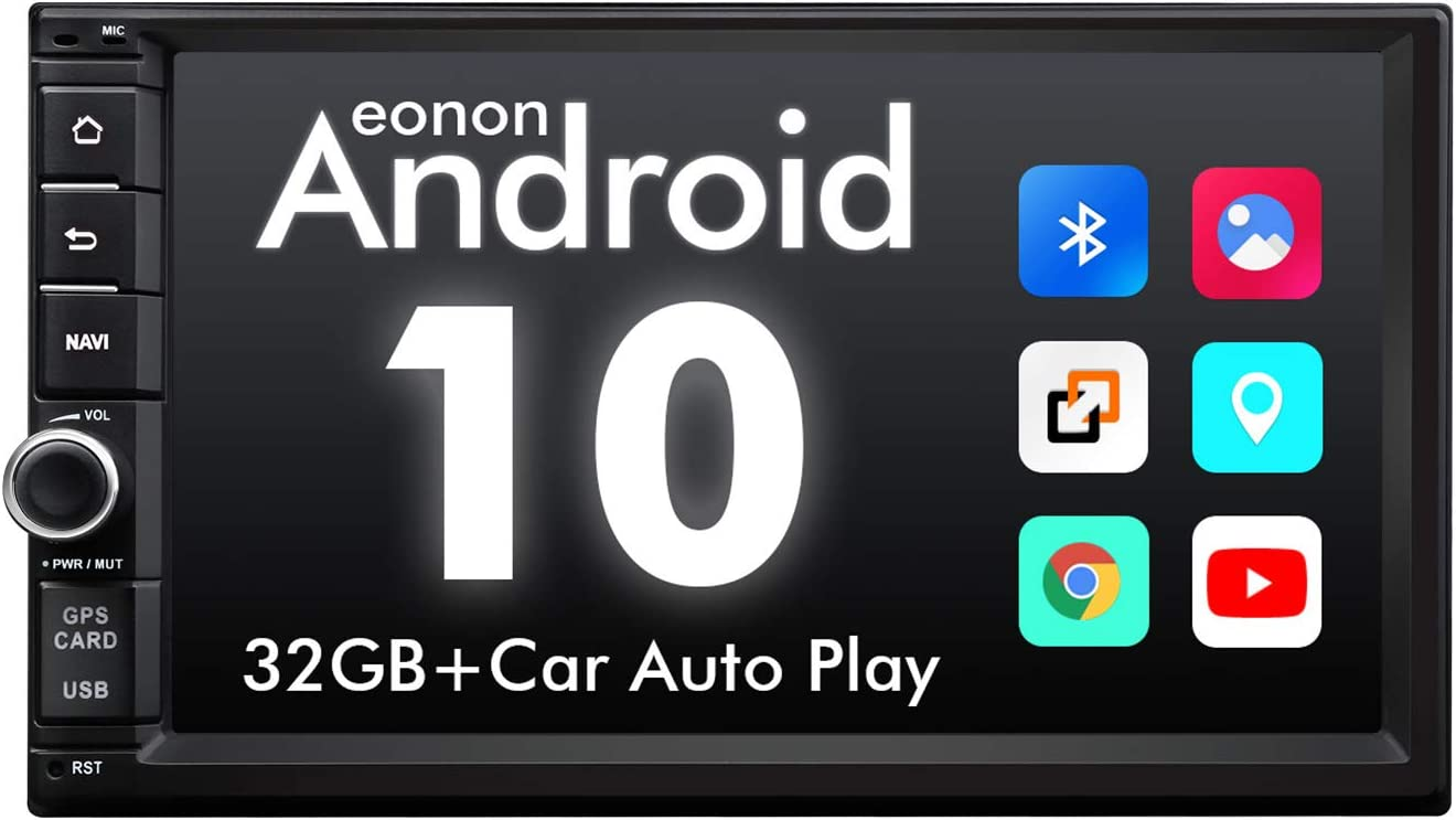 Amazon Com 2020 Newest Double Din Car Stereo Eonon Android 10 Car Stereo With Navigation Car Radio Android Head Unit Support Android Auto Apple Carplay Wifi Fast Boot Backup Camera Obdii 7 Inch Ga2186 Gps Navigation
