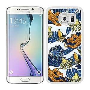 Funda carcasa para Samsung Galaxy S6 Edge Plus estampado pulpos borde blanco