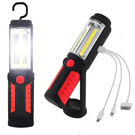 Rechargeable Led Work Light Cob Inspection Lamp Hand Torch