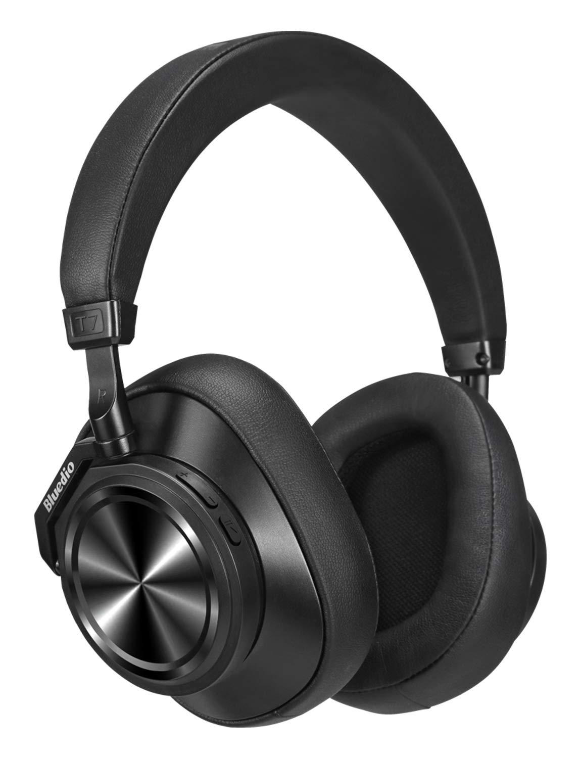 Bluetooth Headphones Over Ear,Bluedio T7 Plus (Turbine) Custom Noise Cancelling Headphones,57mm Driver Hi-Fi Stereo, 30Hrs Playtime,Wireless Headsets with Mic/SD Card Slot for PC/Cellphone/Travel/Work