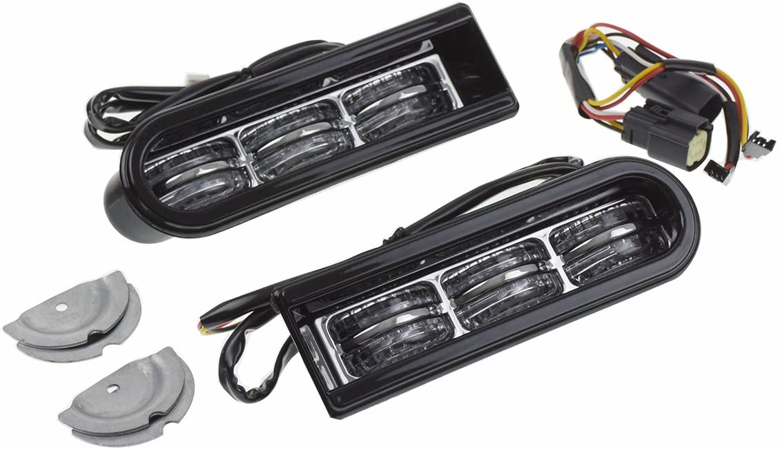 Rebacker Saddlebag Accent LED Insert Saddlebag Filler Support Light for Harley Touring FLHTCU//L 2014-2017 Chrome