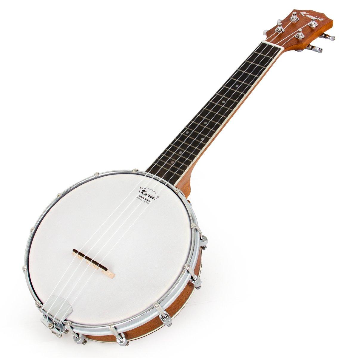 Banjo Ukulele 4 String Banjos lele Ukelele Uke Concert 23 Inch Size (Type 4) Kmise Banjo-4