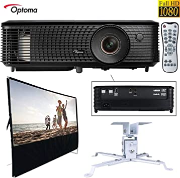 Optoma HD143X Full HD 1080p 3D DLP Home Theater Projector Hardware Bundle
