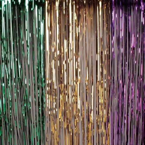 Mardis Gras Curtain - U.S. Toy OD359 Hanging Curtain, Mardi Gras